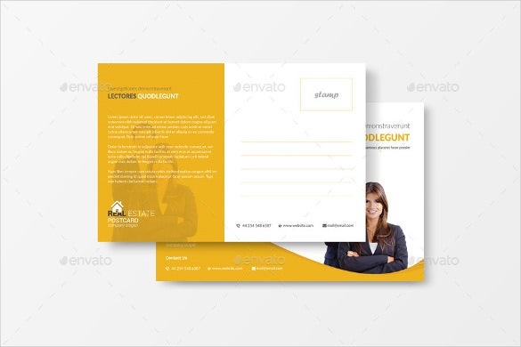 real estate business postcard template psd format