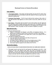 Free-Sample-National-Letter-of-Intent-Procedure-Template