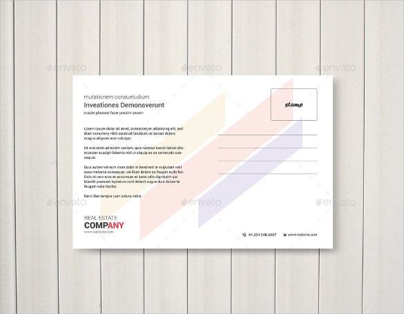 real etate postcard template download in psd