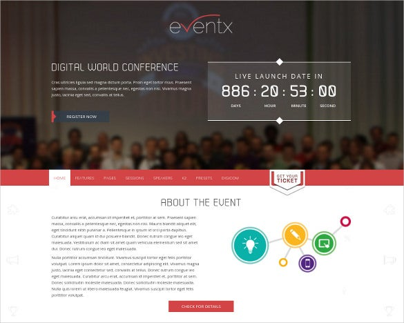 attractive joomla event template
