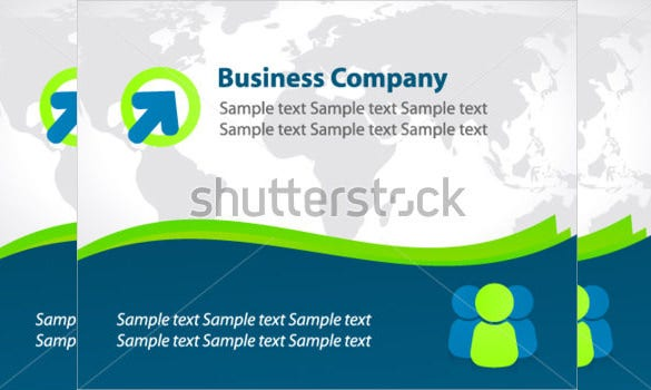 simple contemporary business postcard