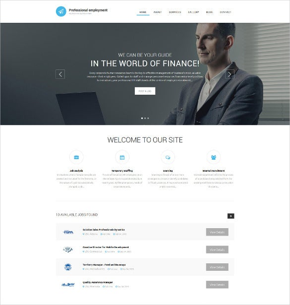corporate professional employment drupal template