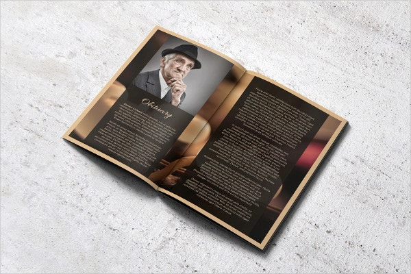 Funeral Memorial Booklet Template