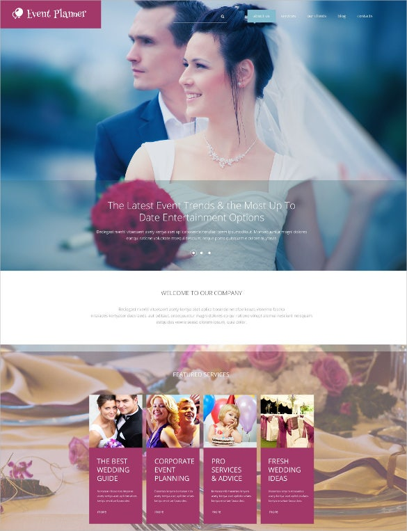 wedding event planner drupal blog theme