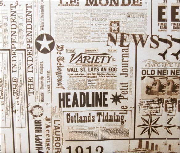 12 Vintage Newspaper Templates Free Sample Example Format