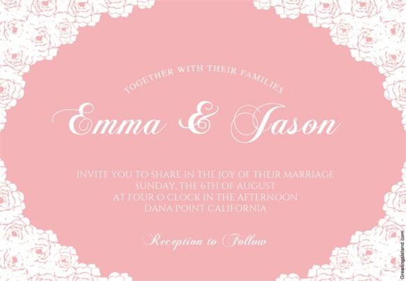 Email Wedding Invitations Free Templates: 71+ Free Printable Word, PDF