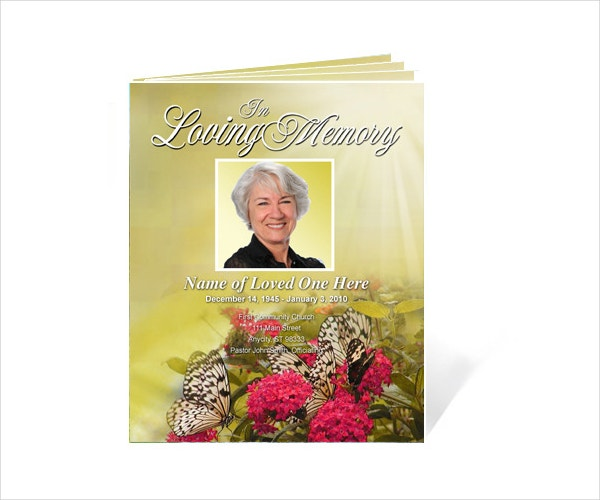 Bouquet Legal Single Fold Booklet Template