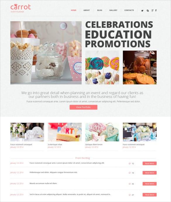 celebration event planner wordpress blog theme