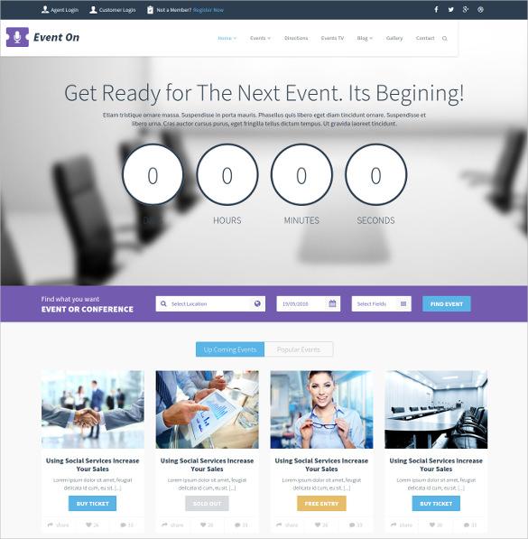 event responsive html blog template 17