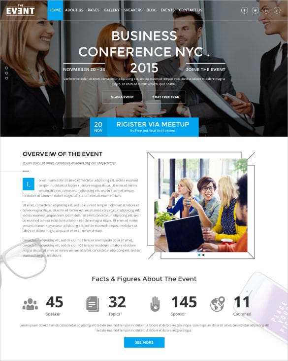 business conference event management blog template