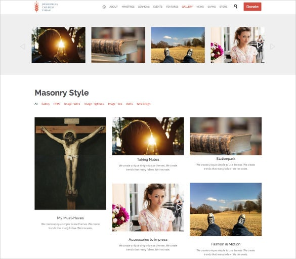 church events responsive wordpress blog theme