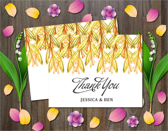 simple beautiful thank you card