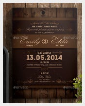 Bridal Brown Wedding Invitation Wording Template