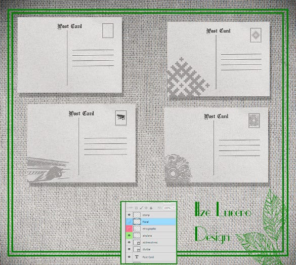 simple 5x7 postcard template download