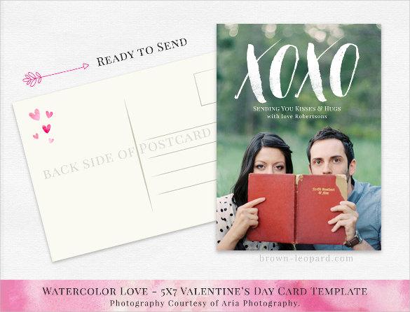 postcard template in light colour