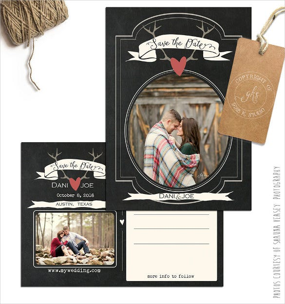 rustic postcard template of 5x7