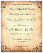 Rustic Vintage Wedding Invitation Tempalate Download