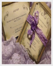 Lavender purple Rustic Wedding Invitation Suite