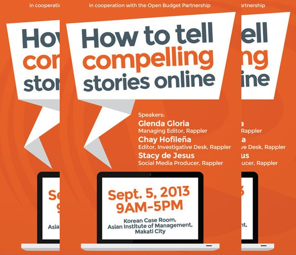 16 seminar invitation templates free sample example format move online orange storytelling seminar workshop stopboris Image collections
