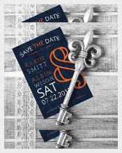Vintage Save The Date Elegant Wedding Invitation Template