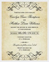 Elegant Flourish Wedding Invitation Template Download