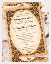Antique Old Elegant Wedding Invitation Template