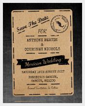 Destination Addressing Wedding Invitation Template