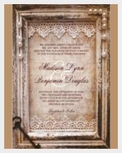 Rustic Vintage Wedding Invitation PSD Format