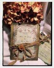 Fall Vintage Wedding Invitation PSD