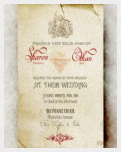 Angel Vintage wedding Invitation PSD Format Template
