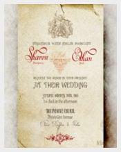 Angel Vintage wedding Invitation PSD Format Template