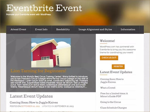 free event wordpress theme
