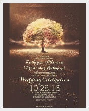 Romantic String Lights Tree Fall Wedding Template Download