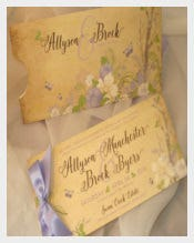 Vintage Woodland Pocket Wedding Invitation Set