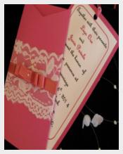Raspberry Pocket Wedding Invitation