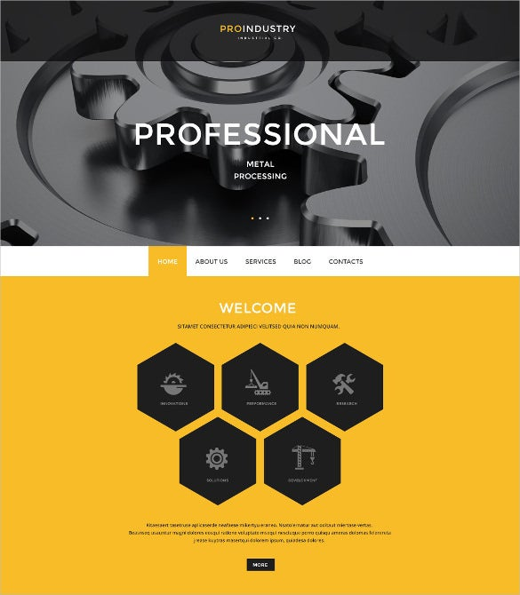 corporate industry psd template