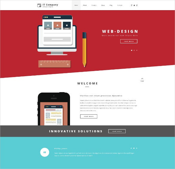 corporate it company psd template