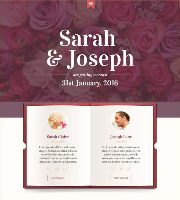 unique wedding event swish template