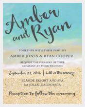 Tropical Beach Wedding Reception Invitation PSD Format Template%0A