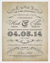 Bridal Vintage WeddingReception Invitation PSD Format Template %0A