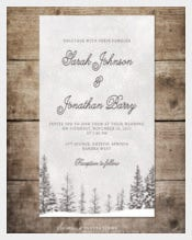 Wonderland Winter Wedding Invitation
