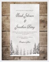 Wonderland Winter Wedding Invitation
