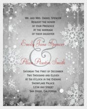 Wintery Grey Winter Wedding Invitation
