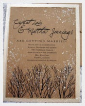 Painted Winter Wedding Invitation