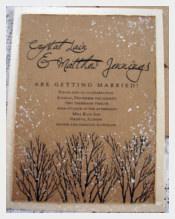 Painted Winter Wedding Invitation
