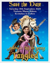 Disney Tangled Funny Wedding Invitation