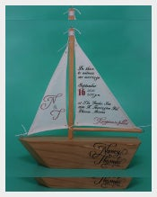Sailboat Handmade Wedding Invitations Templates