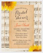 Sunflower Wedding Invitation with Vintage Sunflower