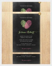 Heart Printed Chalkboard Wedding Invitation Template