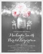 Chalkboard Mason Jar Wedding Invitation Template